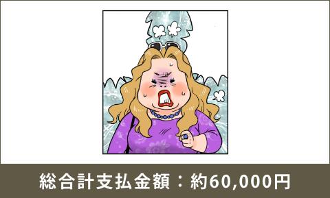 総合計支払金額:約60,000円